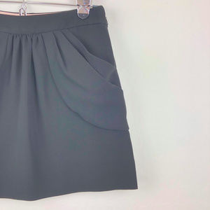 J. Crew Skirts - J Crew Black Drapey Drexel Plissé Skirt